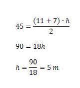 exemplo area trapezio