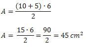 exemplo formula trapezio
