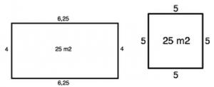 retangulo e quadrado