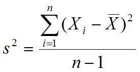 formula variancia