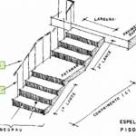 desenho de uma escada